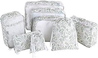 Haokaini 8Pcs Sac de Rangement de Vêtements Sac d'emballage en Tissu Portable Sacs Cosmétiques de Blanchisserie pour Organ...