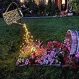 Solar Gießkanne Lichter LED Außen Strahler Erdspieß Lampe lichterketten für aussen Garden Fairy Duschlicht Gartendekoration Metall Vintage Solarleuchten Balkon Tisch