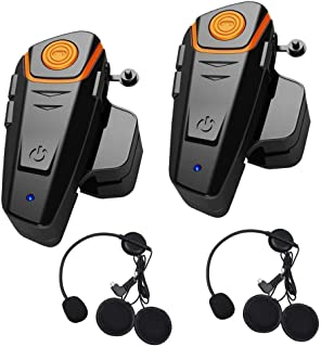 Baile Bluetooth Headset for Motorcycle Helmet Intercom interphone walkie-Talkie for Motorcycle Motorbike Intercom Up to 3 Riders Within 1000m (2 Pack)