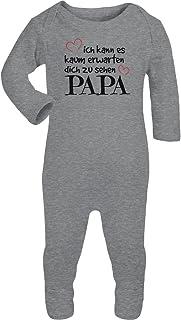 Shirtgeil Ich Kann Es Kaum Erwarten Dich Zu Sehen Papa Baby Strampler Strampelanzug