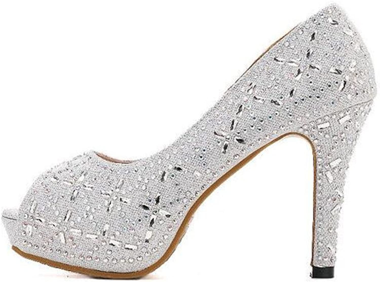 SUNNY Store Women's Peep Toe High Heel Platform Pumps Party Wedding Bridesmaids Dress shoes