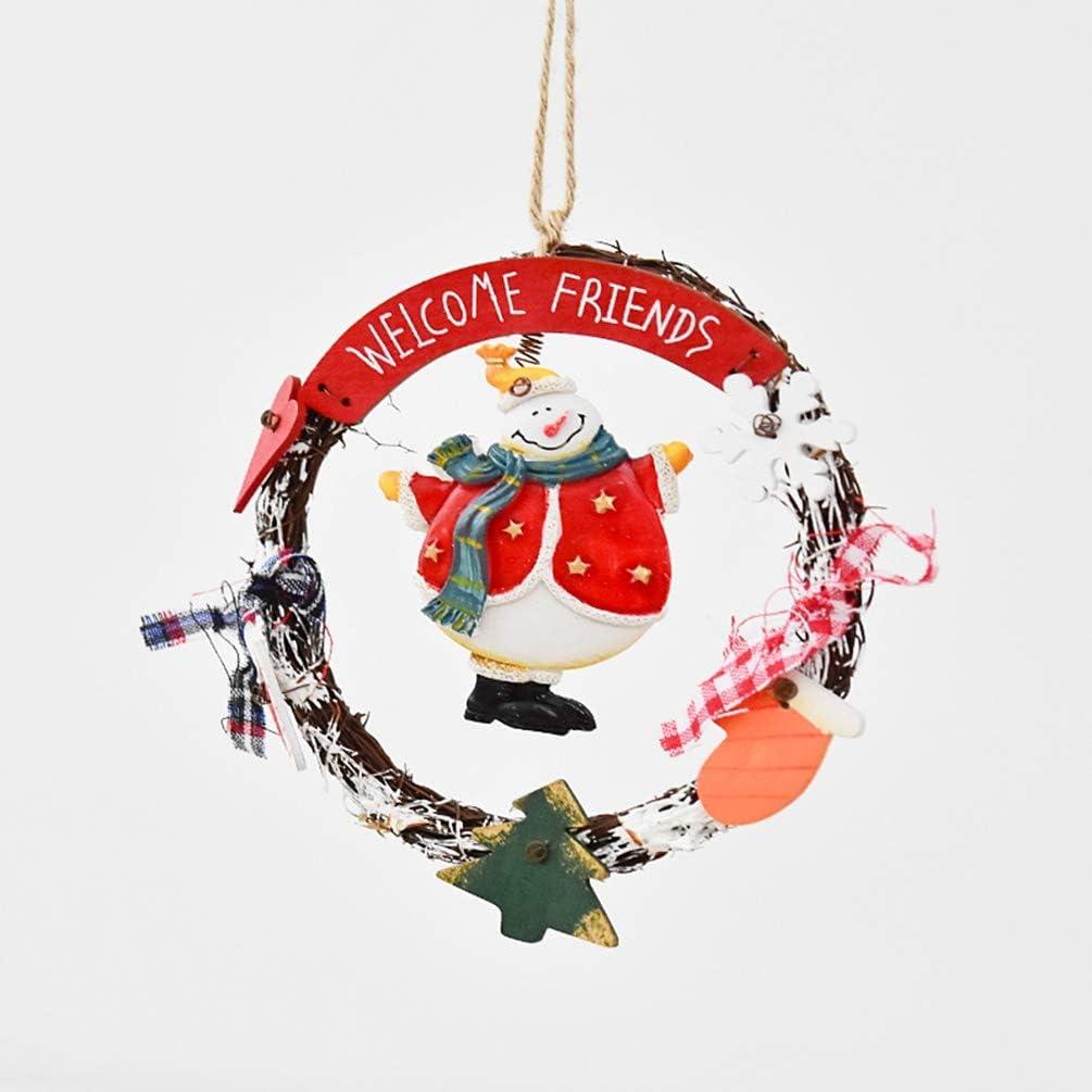 ZM-shu Arbol de Navidad Guirnaldas De Navidad/Puerta Cuelgan Adornos Retro Americano De La Familia/De Navidad Decoración De La Ventana Adornos/Regalo 16.5cm ++ (Color : B)