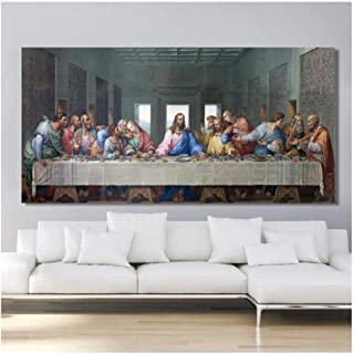 Cjyrjcc Leonardo Da Vinci'S The Last Supper Posters And Print Wall Art Canvas Painting Famous Painting Art For Living Room...