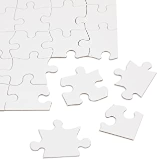 Blank Puzzle - 36-Pack White Jigsaw Puzzles for DIY, Kids Color-in Crafts Projects, Weddings, 48 Pieces Each, 8.5 x 11 Inches