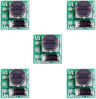 Comidox 1.5V 1.8V 2.5V 3V 3.3V 3.7V 4.2V to 5V DC-DC Step Up Power Module Voltage Boost Converter Board 0.9-5V to 5V 5PCS
