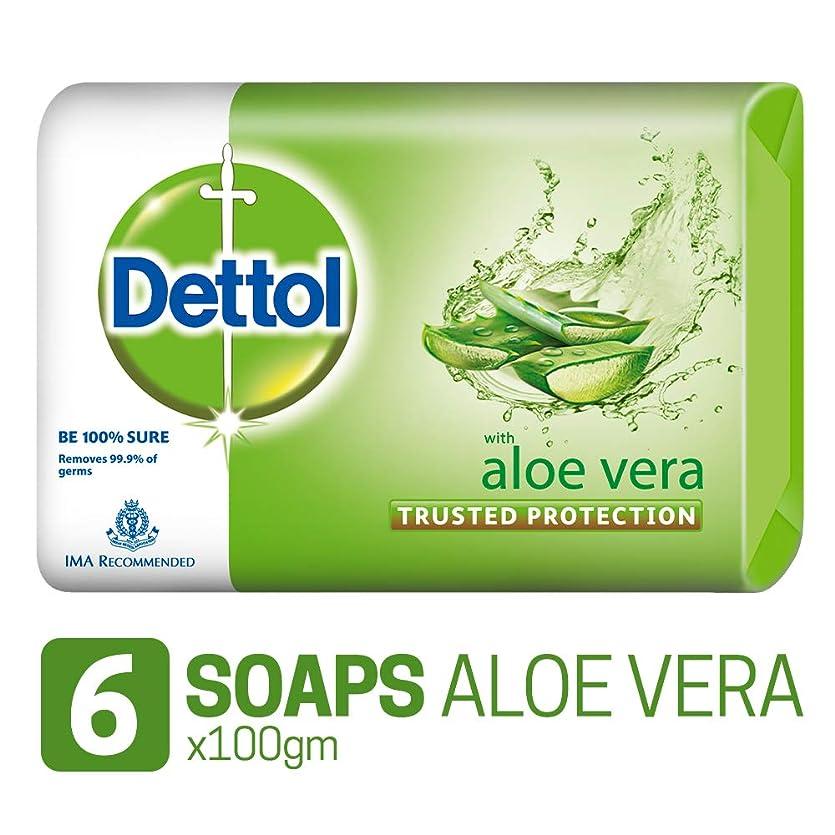 頑丈どこにも市長Dettol Soap - 100 g (Pack of 6, Aloe Vera)