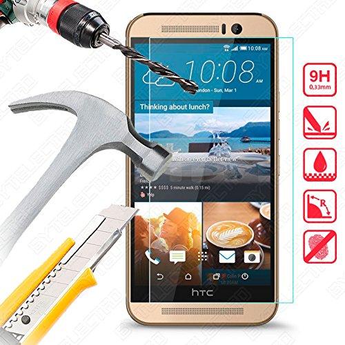 Bytelectro - Protector Pantalla CRISTAL TEMPLADO Premium HTC ONE M9