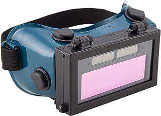 Holulo Auto Darkening Welding Goggles with Clear Inner Lenses Welding Helmet Solar Welder Eyes Glasses Flip Up Lens Eye Protection (Dark Green)