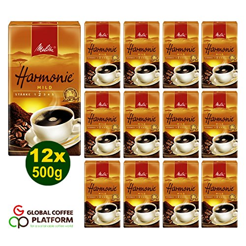 Melitta HARMONIE mild Filterkaffee 12x 500g (6000g) - Melitta Café gemahlen