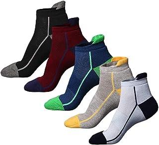Calcetines de Deporte, 5 Pares Calcetines Cortos Tobilleros, Calcetines Running Deportivos Unisexo, Cortos Calcetin, Calcetines Transpirable
