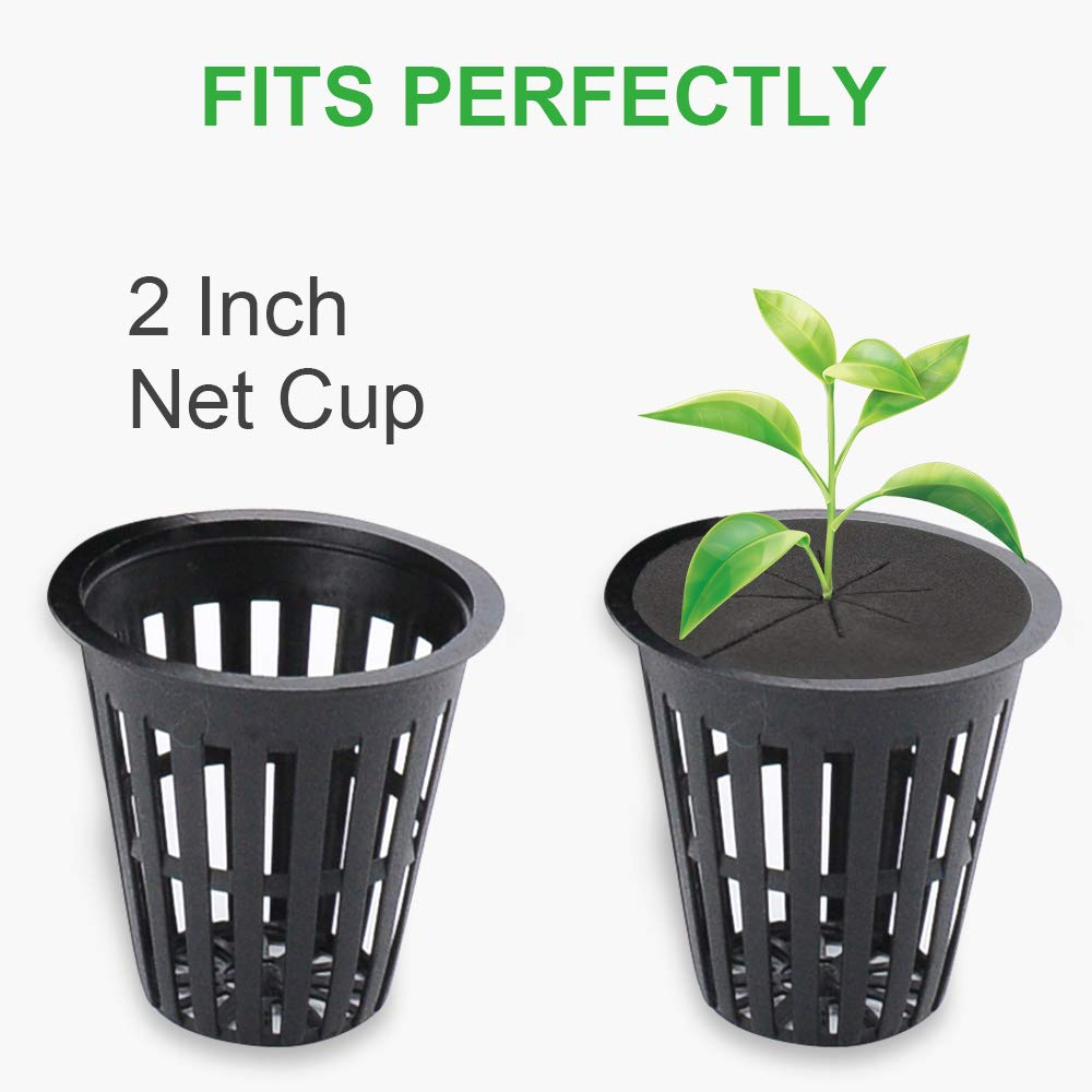 GROWNEER 60 Packs 2 Inches Garden Clone Collars Cloning Collar Inserts with 8 Spokes, Fits 2 Inches Net Pots, for Hydroponics, Cloning, DIY Cloner and Clone Machines