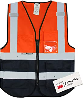 Salzmann 3M High Visibility Multi Pocket Vest with 3M Reflective Tape