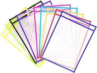 Hillento Set of 10 Dry Erase Pocket, Oversize 10