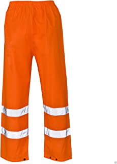 Hi Vis Viz Joggers Slim Fit Reflective Tape Stripe Band Trousers High Visibility Safety Workwear Two Tone Jogging Bottoms Security Thick Brush Fleece Sweat Jog Combat Tracksuit Pants Size S-4XL