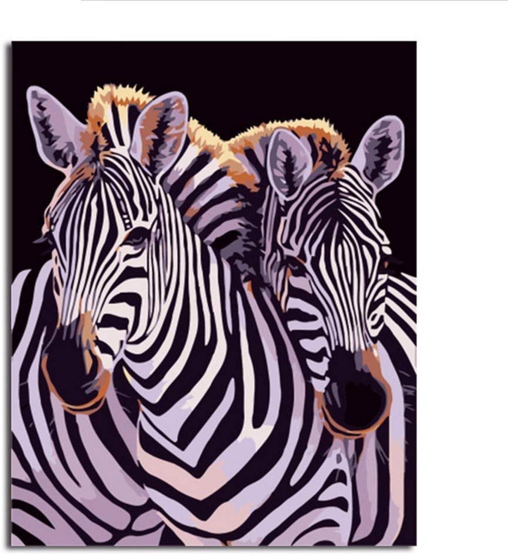 Waofe Gerahmte Bilder Malen Nach Zahlen Tierhandarbeit Tierhandarbeit Tierhandarbeit Leinwand Ölgemälde Wohnkultur Für Wohnzimmer B07Q2QYF8V | Schön geformt  64a8c0