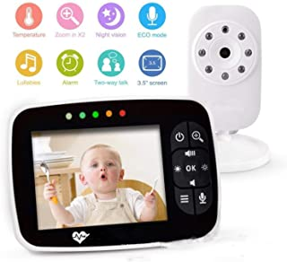 BABIFIS Monitor inalámbrico de 35 Pulgadas para bebés Monitor de Video para bebés con cámara Talkback bidireccional Dispositivo de Cuidado para bebés