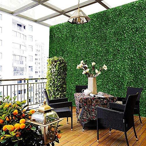 Artificial Grass Plant Lawn,Emulational Ivy Artificial Ivy Leaf Plastic Garden Screen Rolls Wall Landscaping Panels Wall Fence Home Garden Backdrop Decor,40x60cm