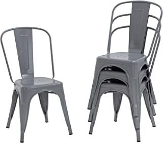 Dining Chairs Set of 4 Indoor Outdoor Chairs Patio Chairs...