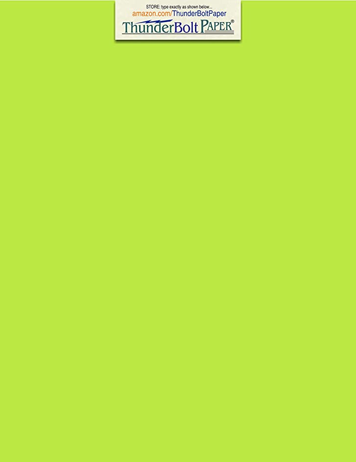 50 Bright Lime Green 65lb Cover|Card Paper - 9 X 12 Inches Frame, Sketch Pad and Drawing Size - 65 lb/Pound Light Weight Cardstock - Quality Printable Smooth Surface for Bright Colorful Results