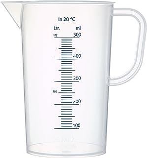 neoLab E-1622 Jarra medidora de polipropileno, 500 ml