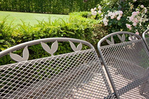 greemotion Hollywoodschaukel 3-Sitzer Toulouse – Gartenschaukel Metall in Grau-Anthrazit mit Dach in Creme – Outdoor Schwebebank für Garten, Balkon & Terrasse, wetterfest – bis ca. 300 kg - 3