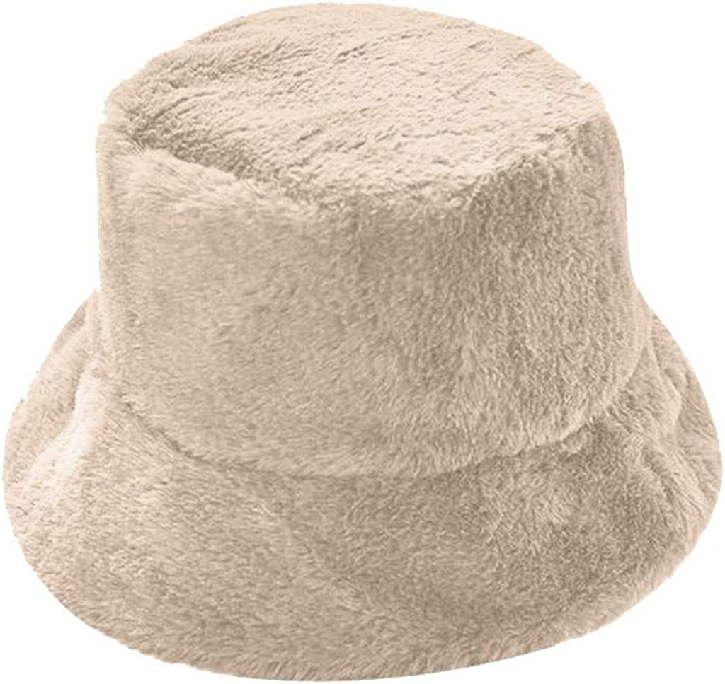 Women Ladies Winter Bucket Faux Fur Hat Cute Warm Caps Hunting Fishing Hats Xmas