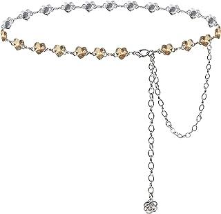 Suyi Cinturones De Cadena para Mujer Rhinestone Cintura Cadena para Vestido