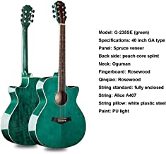 40 Inch Natural Finish Full Size Steel String Acoustic Guitar Rosewood Fingerboard Acoustic Folk Guitar Students Children Adult Music Lovers