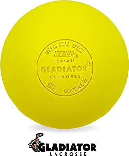 Gladiator Lacrosse Single Official Lacrosse Ball – Yellow – Meets NOCSAE Standards, SEI Certified