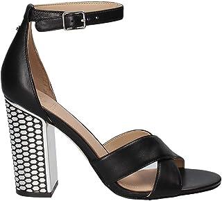 721f63fc58c8b2 Guess Sandale Femme Noire Argent High-Heeled Article FLIAN1 LEA03 Black  Nouvelle Collection Printemps Été