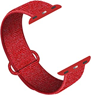 QIENGO Compatible for Apple Watch Band 38mm 40mm 42mm 44mm, Adjustable Closure Wrist Strap, Replacement Band Compatible for iWatch Series 5 4 3 2 1
