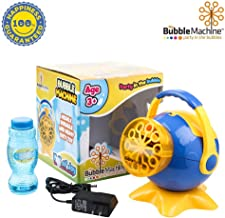 Bubble Machine for Kids, Automatic High Output Bubbles Blower 1000 Bubble per Minute, Portable Bubble Maker for Birthday Party Fun Indoor Outdoor Use with Bubble Solution Included