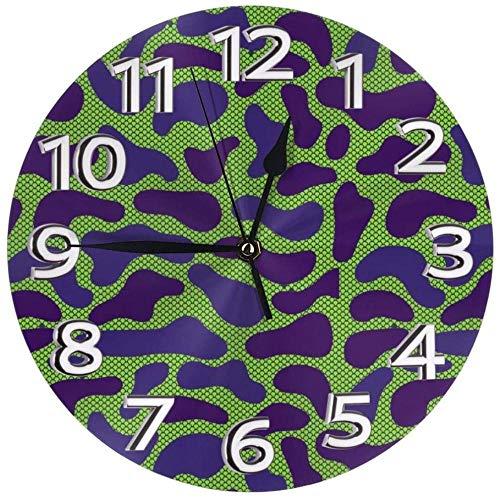 XXSCXXSC Wall Clock Camouflage Desk Clocks Mute Metal Decorative For Household Hotel Modern Accurate