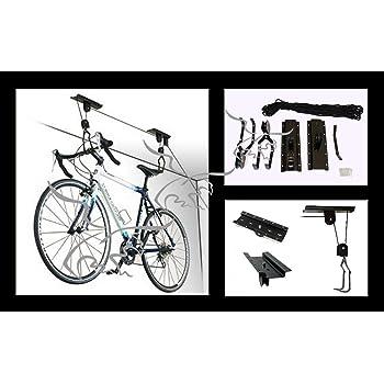 Soporte colgador de bicicletas para techo, poleas para bicicleta ...