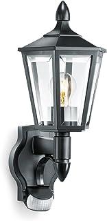 Steinel L15 Buitenlamp, zwart, wandlamp met 180 graden bewegingsmelder, max. 10 m bereik, klassiek design.
