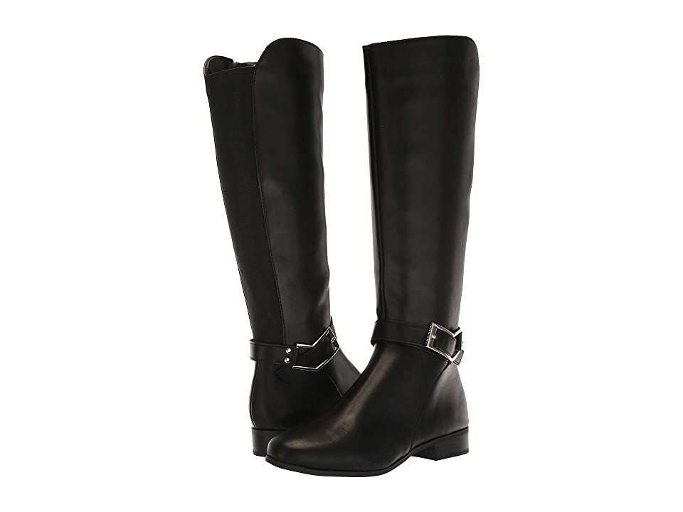 Tahari Lacey (Black Calf Synthetic/Elastic) Women