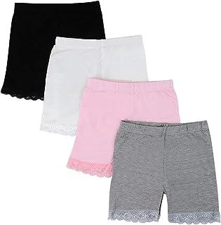 Kidear 3-12 años para niños Comodidad Ropa Interior Transpirable Vestido de Color sólido Pantalones Cortos Safety Boyshort...