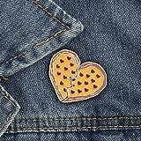 NXCY01 2pcs / Set Botella Creativa Vino de la Tierra de la Copa Pizza Esmalte Broche Collar de la joyería del Pin Pin Ramillete (Color : Pizza Heart)