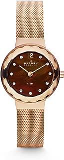 Skagen 456SRR1 Leonora reloj de malla de oro rosa para mujer