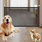 LLYWCM Magic Gate Tragbar Safety Dog Barrier Faltbar Kunststoff Hund Safe Guard Trennwand installieren überall, Pet Hund Isolierte Mesh Sicherheit Tor