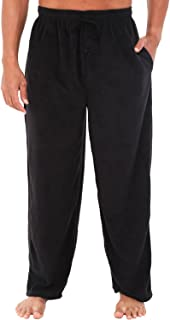 Men's Warm Fleece Pajama Pants, Long Lounge Bottoms
