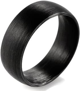 Men's 8mm Domed Pure Carbon Fiber Wedding Ring