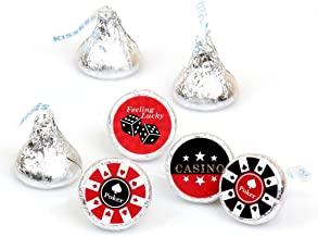 Las Vegas - Casino Party Round Candy Sticker Favors - Labels Fit Hershey's Kisses (1 Sheet of 108)