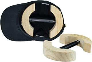 Houseables Hat Stretcher, One Size Fits All, Wooden, Heavy Duty, Adjustable Sizer Jack, For Cowboy, Baseball, Up Straw, Fitted Womens Mens Caps, Felt, Oval Cap, Fedora, Hats Shaper, Maintainer
