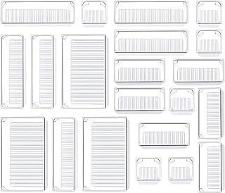 Kootek 21 Pcs Desk Drawer Organizer Trays 4-Size Bathroom Drawer Tray Plastic Storage Organizers Bins Customize Layout Div...