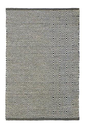 Jute & Co. Vienna handdoek, 100% katoen, zwart/grijs, 60 x 120 cm