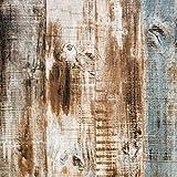 Lámina autoadhesiva marrón de madera, para muebles, 45 cm x 300 cm, color azul, aspecto de madera, resistente al agua, papel pintado para muebles, papel pintado para pared, muebles, mesas, etc.