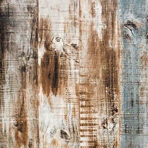 Blau Klebefolie Braun Holz Selbstklebende Möbelfolie Holzoptik Tapete Wasserdicht Blau Möbelfolie Wandtapete für Wand Möbel Tür Schrank Tisch Holz Streifen Folie 45cm X 500cm Vinyl Blau Tapete
