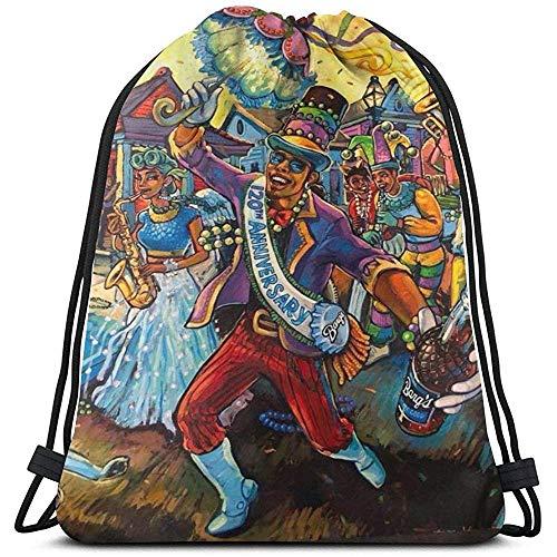 Arvolas Turnhalle Kordelzug Taschen Mardi Gras Trinken Männer Malerei String Pull Bag String Rucksack Durable Cinch Taschen Tragbare Sporttasche