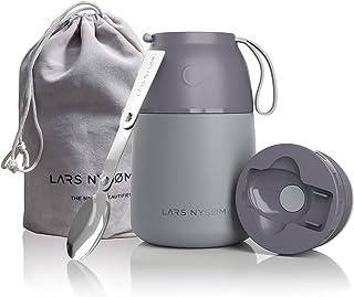 LARS NYSØM Boîtes Porte Alimentaires Isotherme 530ml I Récipient Thermo en Acier Inox pour Aliments pour Bébés, Soupes, Mu...